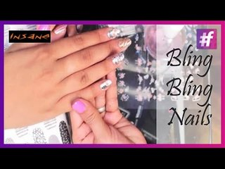 Bling Bling Nails DIY | Bling Nail Art Tutorial | Insane Nails and Tattoos