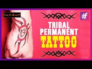 Free Hand Tribal Design On The Hand | Permanent Tattoo