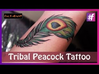 Feather Tattoo: Coloring and Shading | Peacock Feather Tattoo