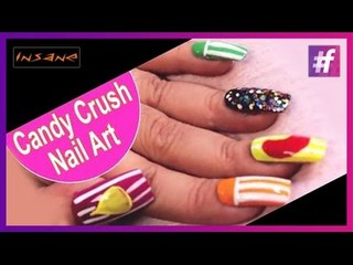 Candy Crush Saga Nail Art | Colorful Nails Tutorial