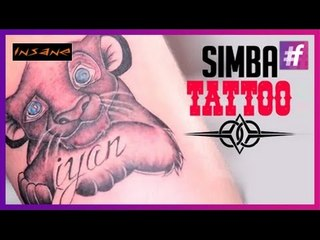 Cute Simba Tattoo | Permanent Tattoo Tutorial