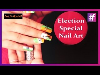 Indian Election 2014 Special Nail Art Tutorial | Insane Nails and Tattoos