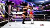 Brie Bella Daniel Bryan vs. Nikki Bella John Cena WWE 2K14 Let's Play