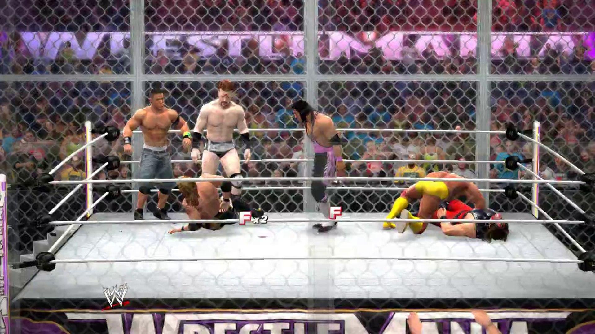 Watch Hogan v. Edge v. Sheamus v. Cena v. Hart v. Kane WWE 2K14 (HIAC) Let's Play