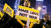 Hong Kong protestors call for leader to resign