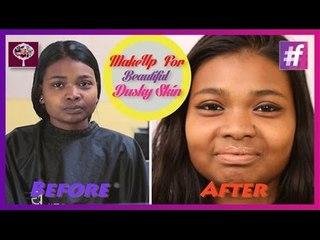 How To Apply Foundation on Dark Skin   Makeup Tutorial For Dusky Skin