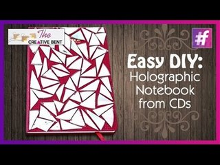 Easy DIY: Customized Holographic Notebook from CDs