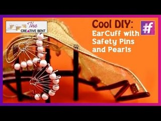 Cool DIY: Create Your Own EarCuff with Safety Pins and Pearls