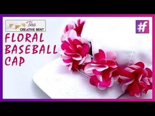 DIY Floral Baseball Cap