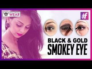 Black & Gold Smokey Eye | Makeup Tutorial