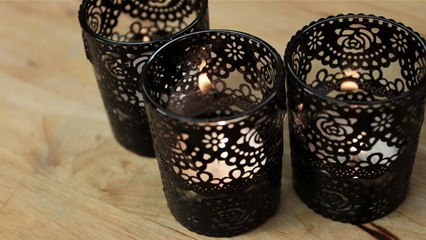 How To Make Black Lace Candles