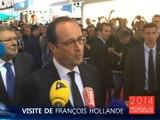"""""""Les voitures éléctriques au prix des thermiques"""" - Hollande au Mondial de Paris 2104"""