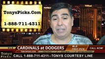 LA Dodgers vs. St Louis Cardinals Free Pick Prediction Game 1 MLB NLDS Odds Preview 10-3-2014