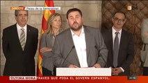 Els polítics de l'acord del 9-N responen les preguntes dels periodistes