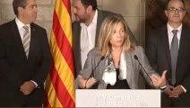 Els polítics compromesos amb el 9-N responen les preguntes dels periodistes