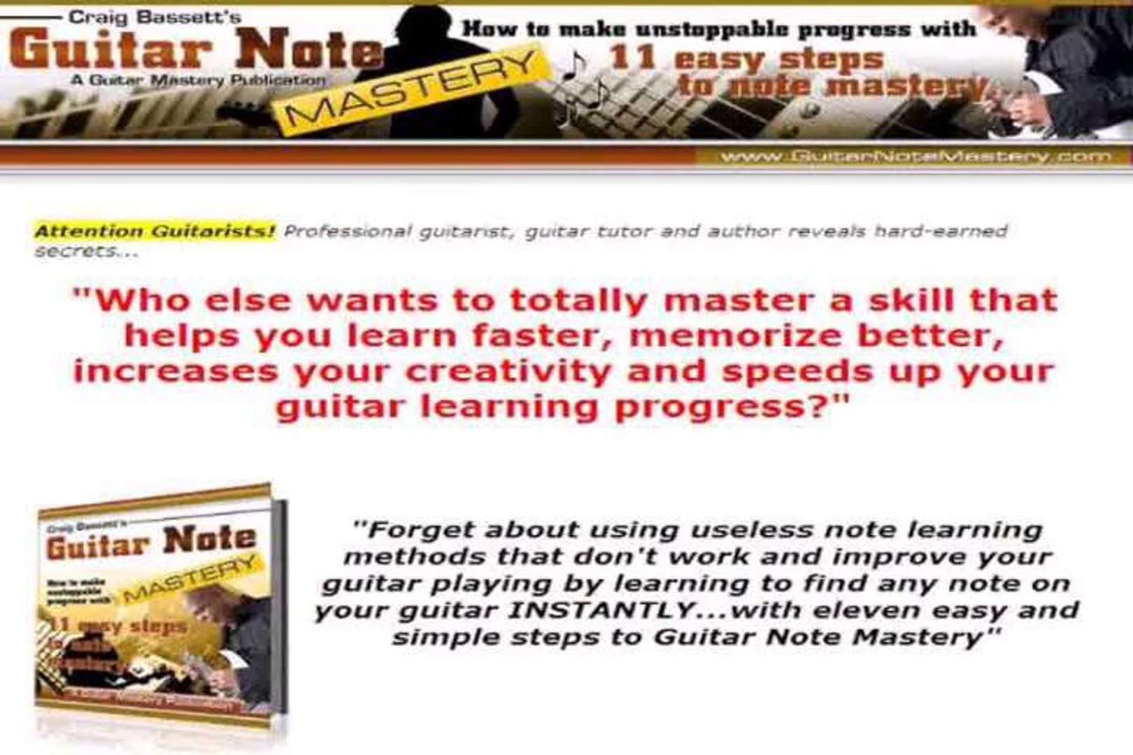 Guitar Note Mastery. tutorials