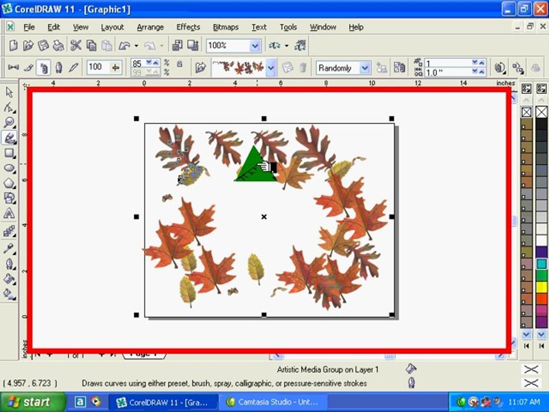 Corel Draw Tutorial Use Of Artistic Media Tool Video Dailymotion