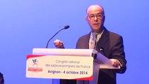 Entretien exclusif avec Bernard Cazeneuve, ministre de l'Intérieur - Congrès national des sapeurs-pompiers de France 2014 - Avignon