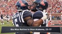 Ole Miss Rallies to Upset Alabama