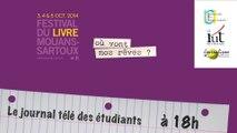 Le journal télé des étudiants au festival du livre de Mouans-Sartoux