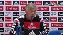 Ancelotti aseguró la titularidad de CR7 y Casillas.