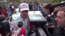 Sébastien Ogier à l'arrivée du rallye de France-Alsace 2014
