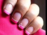 Breast Cancer Nails Art Designs -- Easy Awareness Ribbon Nail Polish Tutorial no decals or stickers