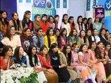 Aiza Khan and Danish Taimoor First Show After Marriage in Jago Pakistan Jago - 6th October 2014 Part 1