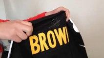 2014 new jersey Pittsburgh Steelers 84 Brown Elite Jersey