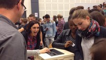 Edith Bouvier rencontre des lycéens