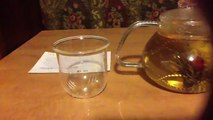 Tea Beyond Clear Glass Teapot Butterfly 710ml 24 Oz Non Drip with Infuser