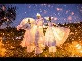 Echassiers Lumineux Blancs Paris Spectacle échassiers lumineux costumes lumineux animation lumineuse