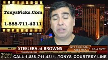 Cleveland Browns vs. Pittsburgh Steelers Free Pick Prediction NFL Pro Football Odds Preview 10-12-2014