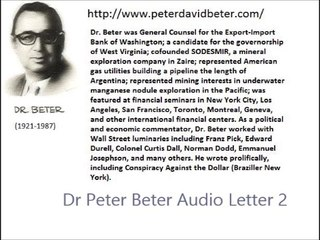Dr. Peter Beter Audio Letter 2 - July 15, 1975 - The Four Rockefeller Brothers; Domestic Military Preparations for Massive Unemployment Riots; The Secret Central Core Gold Vault that the Fort Knox Visitors Did Not See