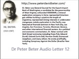 Dr Peter Beter Audio Letter 12 - May 26, 1976 - The Destruction of Competitive Free Enterprise; The Destruction of an Economy; Enslavement Through One-World Government and Nuclear Destruction