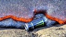 Lavların arasına enerji içeceği atılırsa...