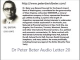 Dr Peter Beter Audio Letter 20 - January 24, 1977 - Dr Peter Beter Audio Letter 20 - January 24, 1977 - Henry Ford's; The Current Pre-War Hostilities; The Super Weapons