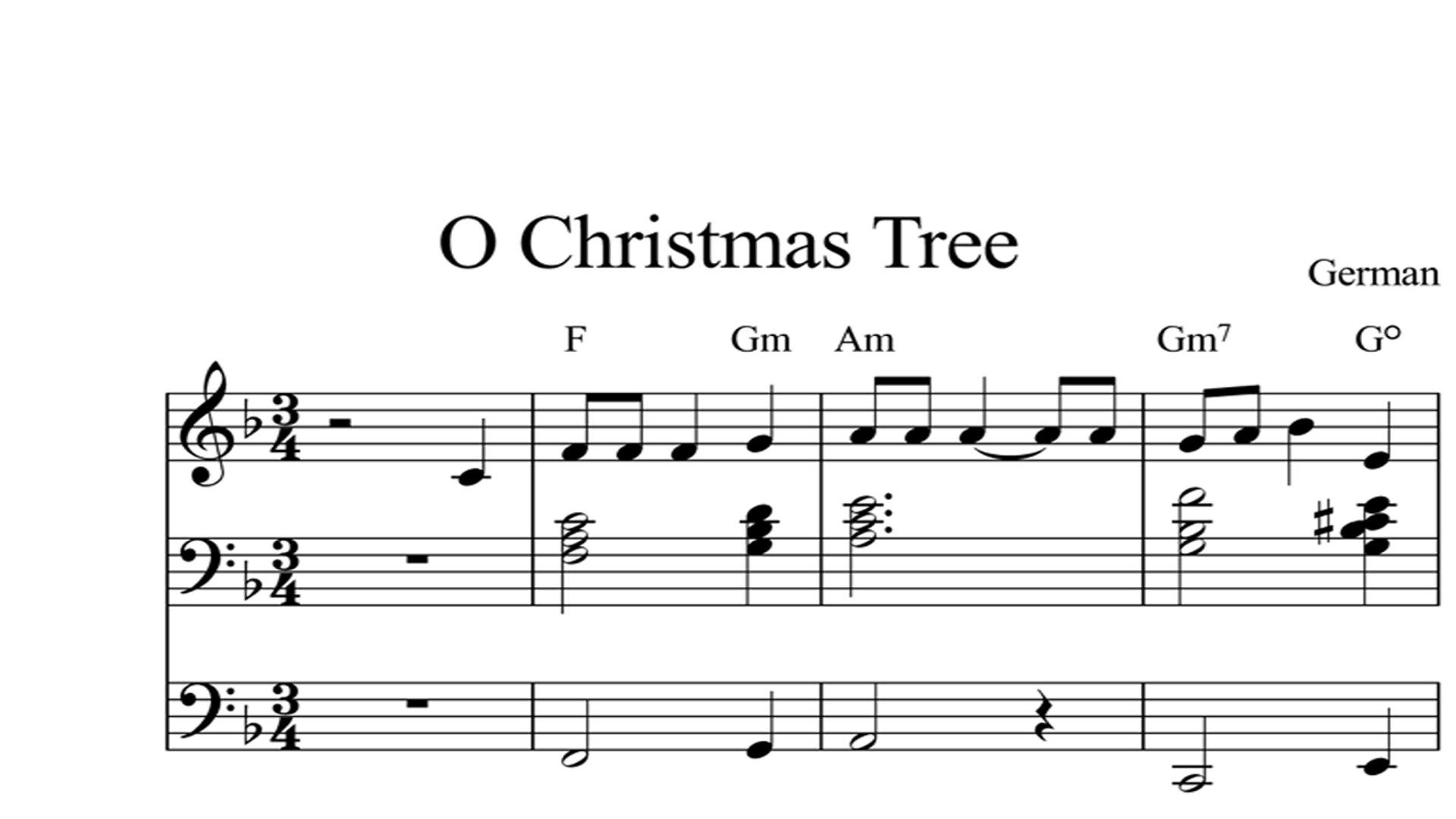 O Christmas Tree In German.O Christmas Tree Digital Sheet Music Piano Organ Keyboard Book 2