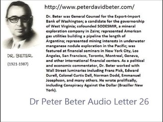 Dr Peter Beter Audio Letter 26 - September 30, 1977 - War in Space: The Battle of the Harvest Moon; The Last Days of the Rockefeller Empire; The American Dream...In Memoriam