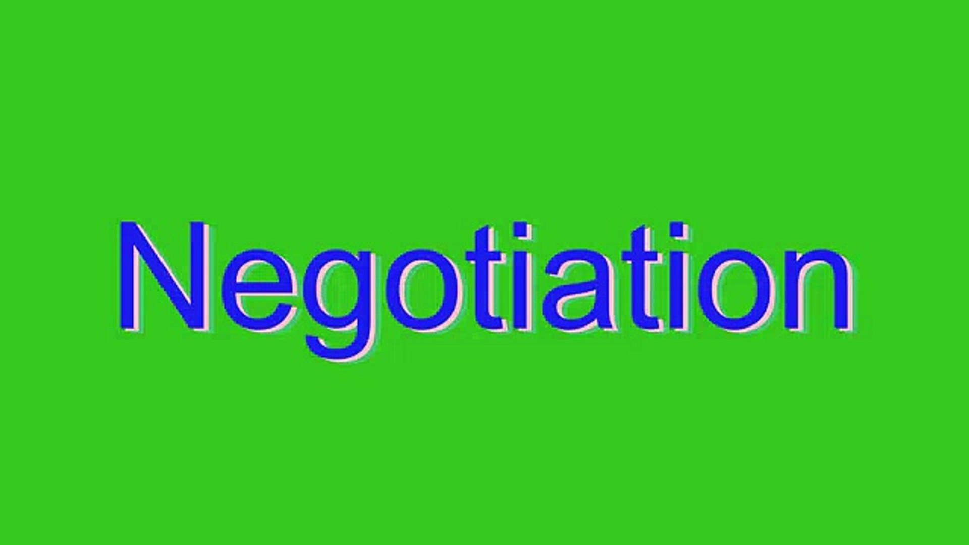How to Pronounce Negotiation