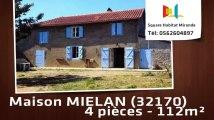A vendre - Maison/villa - MIELAN (32170) - 4 pièces - 112m²