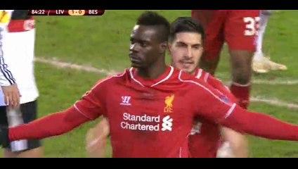Goal Balotelli (Penalty) - Liverpool 1-0 Besiktas - 19-02-2015