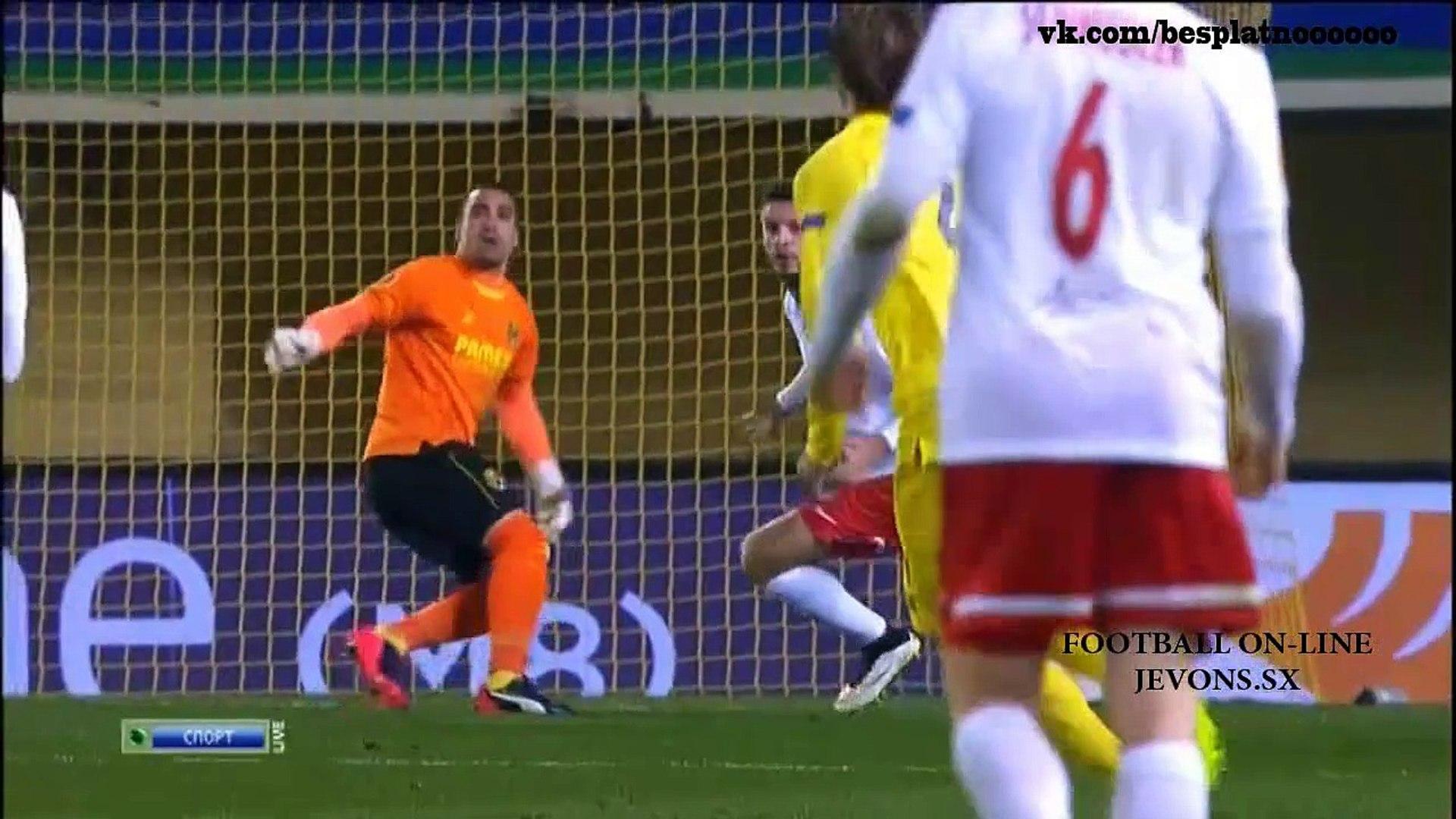 Вильярреал - Зальцбург 2-1. Видео обзор. Лига Европы УЕФА 2014-2015. 19.02.2015 Highlights