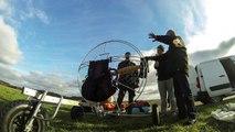 Ecole Grand Vol Paramoteur, Aérodrome de Persan (95) - Une belle journée en chariot paramoteur le 5 janvier 2015