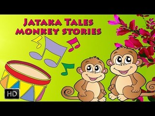 Jataka Tales - Monkey Stories - The Drums - Short Moral Stories For Children - Cartoons
