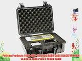 Pelican Products 1450-000-110 1450 HARD CASE BLACK W/FOAM 14.62X10.18X6 PICK N PLUCK FOAM