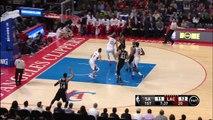 DeAndre Jordan Block Kawhi Leonard Reverse Layup - Spurs vs Clippers - February 19, 2015 - NBA