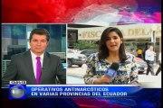Operativos antinarcóticos en varias provincias del Ecuador