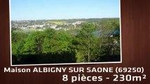 A vendre - Maison/villa - ALBIGNY SUR SAONE (69250) - 8 pièces - 230m²