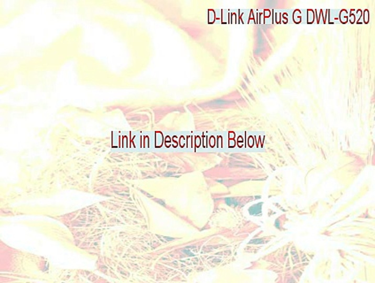 D-Link AirPlus G DWL-G520+A Wireless PCI Adapter Full